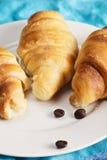 Fresh croissants closeup Stock Photo