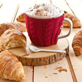 Fresh croissants and coffee Stock Photo