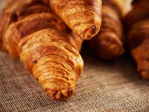Fresh croissants on a dark background Stock Photography