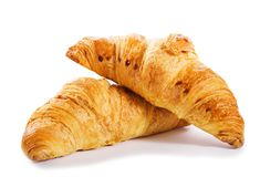 Croissants isolated on white background Royalty Free Stock Photography