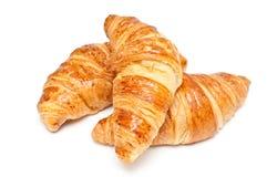 Fresh croissants on white Stock Image