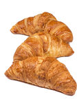 Fresh Croissants  on white Stock Images