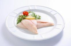 Fresh crude fish fillet Royalty Free Stock Image