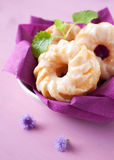 Fresh cruller donuts Royalty Free Stock Photography