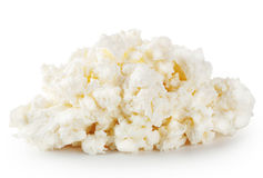 Fresh crumbly cheese Stock Photography