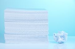 Fresh and crumpled paper Royalty Free Stock Photography