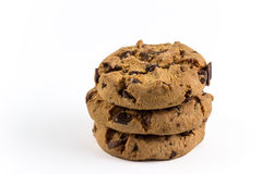 Chocolate-chip cookies. Fresh and crunchy chocolate-chip cookies Royalty Free Stock Photo