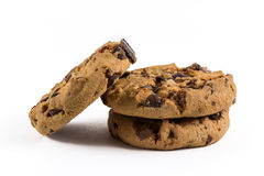Chocolate-chip cookies. Fresh and crunchy chocolate-chip cookies Royalty Free Stock Images
