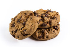 Chocolate-chip cookies. Fresh and crunchy chocolate-chip cookies Stock Photo