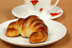 Fresh crunchy Croissant Stock Photo