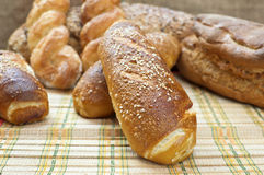 Fresh crunchy and warm home made bread. Stock Photography