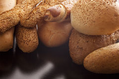 Fresh crusty bread at a bakery Royalty Free Stock Images