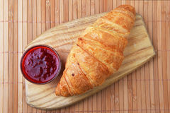 Fresh crusty croissant Royalty Free Stock Images