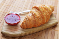 Fresh crusty croissant Stock Photos