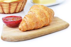 Fresh crusty croissant Royalty Free Stock Photos