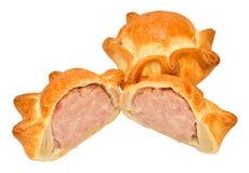 Fresh Crusty Pork Pies Royalty Free Stock Photos