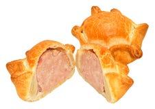 Fresh Crusty Pork Pies Stock Photos