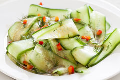 Fresh Cucumber And Pepper Salad Royalty Free Stock Images