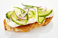 Fresh cucumber and dill canape Royalty Free Stock Photos
