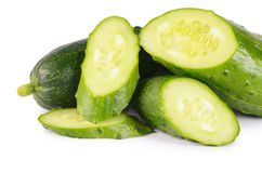 Fresh cucumber isolated on white background Royalty Free Stock Image