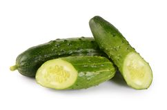 Fresh cucumber isolated on white background Stock Image