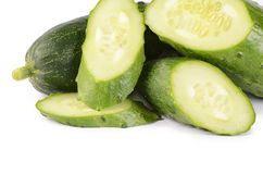 Fresh cucumber isolated on white background Royalty Free Stock Images