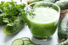 Fresh cucumber juice Stock Photos