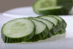 Fresh cucumber on plate Royalty Free Stock Photos
