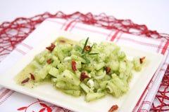 Fresh cucumber salad Royalty Free Stock Photo