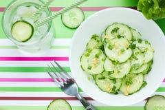 Fresh Cucumber salad light refreshing snack Royalty Free Stock Image