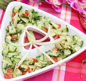 Fresh cucumber salad Stock Photos