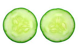 Fresh cucumber slice Stock Photos