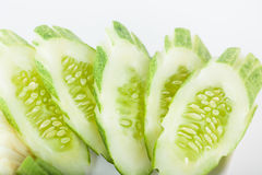 Fresh cucumber slice Royalty Free Stock Photo