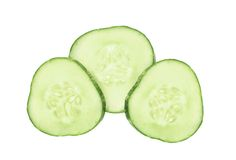 Fresh cucumber slice Royalty Free Stock Images