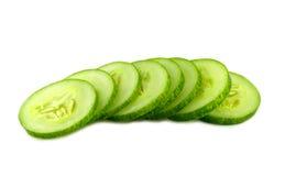 Fresh cucumber slice isolated on white background Royalty Free Stock Photography