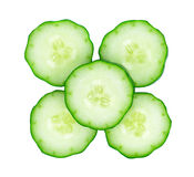 Fresh cucumber slice royalty free stock photos