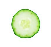 Fresh cucumber slice. Isolated on white background Stock Photo