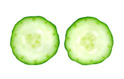 Fresh cucumber slice stock photo