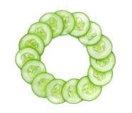 Fresh cucumber slice isolated on white background.  Stock Image