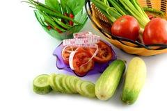 Fresh cucumber slice. On white background Stock Photography