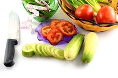 Fresh cucumber slice. On white background Royalty Free Stock Photos