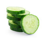 Fresh cucumber slice on white background Royalty Free Stock Photography