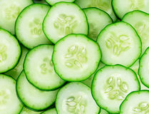 Fresh cucumber slices Royalty Free Stock Photos