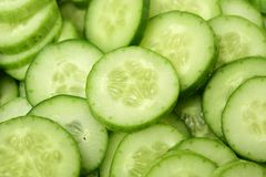 Fresh cucumber slices Royalty Free Stock Images