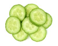 Fresh cucumber slices. For background Royalty Free Stock Image