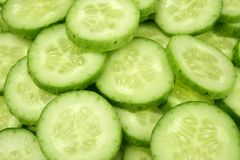 Fresh cucumber slices. For background Royalty Free Stock Photo