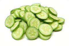 Fresh cucumber slices. On  white background Stock Photography