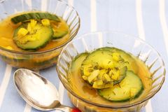 Fresh cucumber soup Royalty Free Stock Photo
