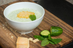 Fresh Cucumber Soup Royalty Free Stock Images