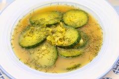 fresh cucumber soup Stock Photos